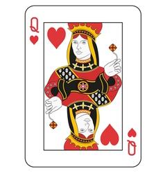 Queen of hearts vector image vector image