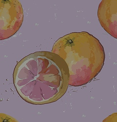 seamless pattern grapefruit vector image vector image