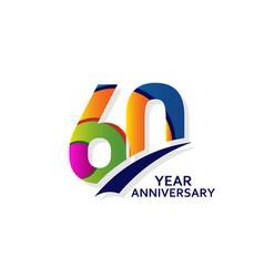 60 years elegant anniversary celebration template vector