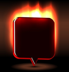 Advertising urgent flaming label vector image