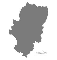 aragon spain map grey vector image