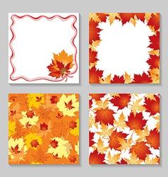 Autumn card set vector