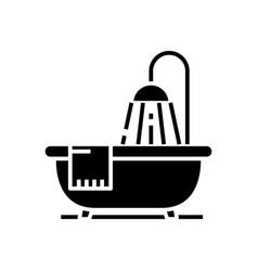 bathroom black icon concept vector image