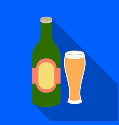 beer icon in flat style isolated on white vector image