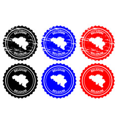 belgium rubber stamp vector image