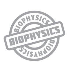 Biophysics rubber stamp vector