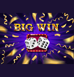 Biw win gold design prize for casino jackpot vector