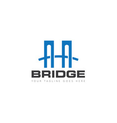 bridge logo and icon design template vector image