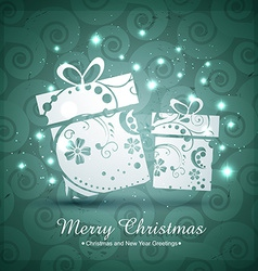 christmas giftbox design vector image