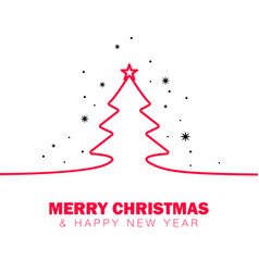 christmas outline vector image