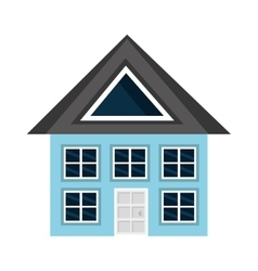 colorful house view graphic vector image