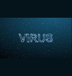 corona virus 3d polygonal text virus infections vector image