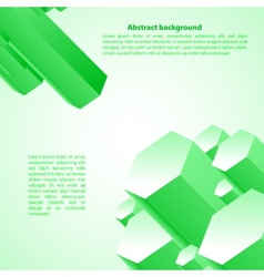 Cristal green prism for your business presentation vector