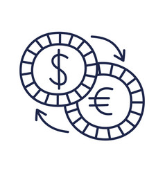currency exchange hand draw doodle business flat vector image