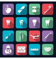 Dental Icons Flat vector