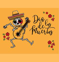 dia de los muertos day of the dead poster vector image