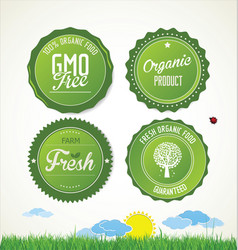 eco labels collection 1 vector image