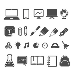 Education silhouettes collection isolated on white vector
