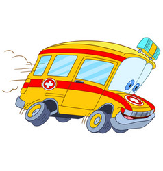 Fast ambulance car vector