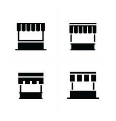 Fast food trolley icons vector