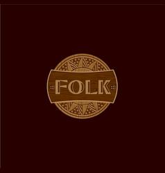 Folk wood logo vector