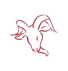 Goat icon Wild animal design graphic vector