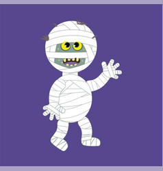 halloween mummy cartoon - funny vector image