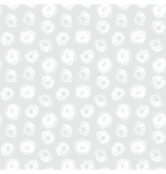 Hand drawn seamless texture with brushed dots vector