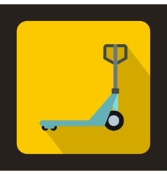 Hand pallet truck icon flat style vector