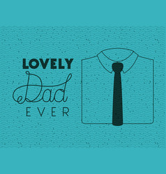 happy fathers day card with elegant shirt and tie vector image
