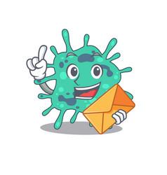Happy shigella boydii mascot design concept with vector