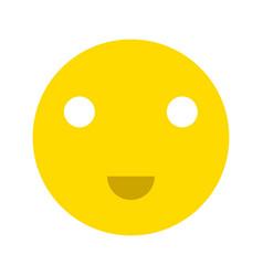 Happy smiley face emoticon icon vector