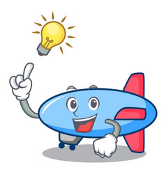 Have an idea zeppelin mascot cartoon style vector