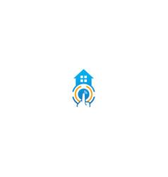 home alarm technology business logo vector image