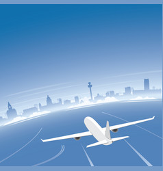 Liverpool skyline flight destination vector