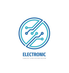 logo 2019 381 electronic technology circle vector image