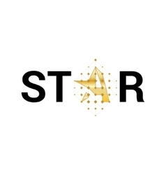 Logo star Logo letter A in the shape star vector image