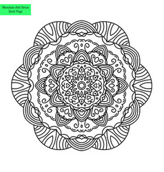 Mandala coloring vector