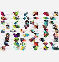 Mega collection of square and triangle banners vector