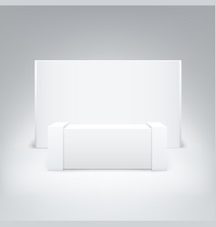 mock up white exhibition stand isolated on white vector image