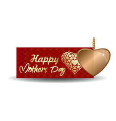 Mothers day design red greeting card vector