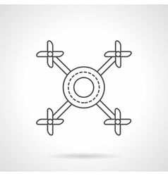 Multicopter line flat line icon vector image