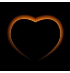Naturalistic Fire Heart on Dark Background vector image