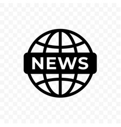 News world globe icon web newsletter and app vector