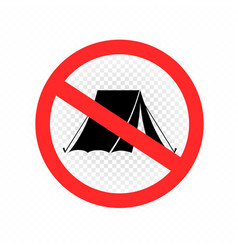 no camping sign symbol icon vector image