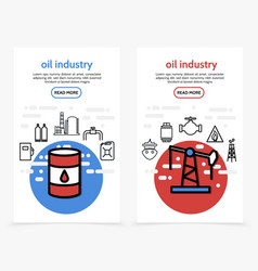 oil industry vertical banners vector image