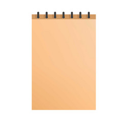 paper notepad icon realistic style vector image