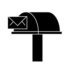 Postbox email delivery icon vector