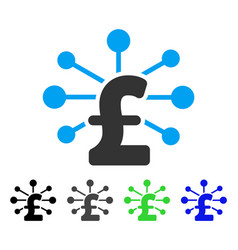 Pound relations flat icon vector