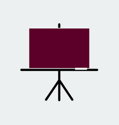 presentation black board flat icon vector image